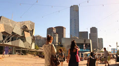 066 federation square Stock Footage
