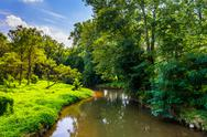 Stock Photo of view of codorus creek, in york county, pennsylvania.