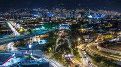 TIME LAPSE: MEDELLIN DOWNTOWN NIGHT Stock Footage