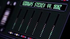 Stock Video Footage of Software spectrum analyzer