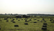 Stock Video Footage of compressed hay bales