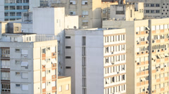 Residential buildings of the downtown Brazil Stock Footage