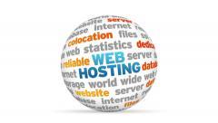 Web Hosting Word Sphere Stock Footage