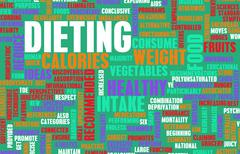 dieting - stock illustration