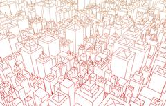 Futuristinen kaupunki Piirros