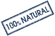 Stock Illustration of 100% natural blue square stamp