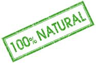 Stock Illustration of 100% natural green square stamp