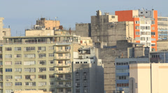 Decadent Residential buildings of the downtown in Porto Alegre Stock Footage