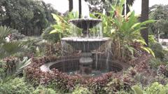 Garden fountain closeup Stock Footage