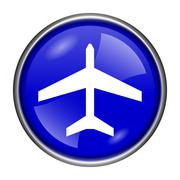 plane icon - stock illustration