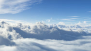 Stock Video Footage of Flying above the clouds