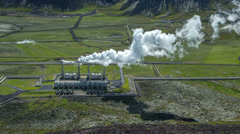 hd timelapse video of nesjavellir geothermal power station, iceland - stock footage