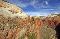 Sheer canyon in the southwest Stock Photos