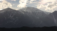 Slow Time Lapse of Andes Mountains Sunset Stock Video Stock Footage
