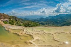 Hierve el agua, natural rock formations in the mexican state of oaxaca Stock Photos