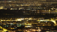 Stock Video Footage of 4K Budapest Aerial by Night Timelapse 1