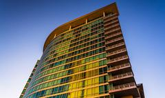 The zenith apartments building in downtown baltimore, maryland. Stock Photos