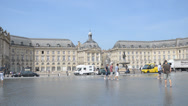 Stock Video Footage of Water mirror in Bordeaux, France