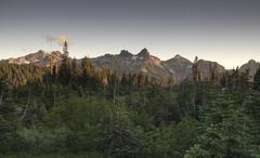 Tatoosh range pinnacle castle unicorn boundary plummers peaks Stock Photos