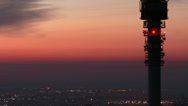Stock Video Footage of 4K Budapest Sunrise Aerial TV Tower Timelapse 2