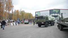 Military truck VOLAT - stock footage
