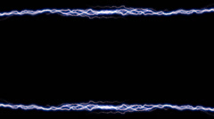 Electricity Border Horizontal 1 symmetrical alpha Stock Footage