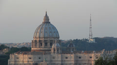 Stock Video Footage of St Peter dome side profile
