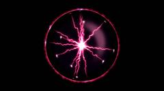 Lightning Orb - Loop, Red Stock Footage