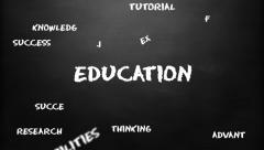 Education chalk board loop animation. - stock footage