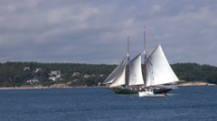 Sailboat at Rockport, Maine Stock Footage
