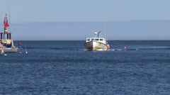 Fishing boat, Rockport, Maine Stock Footage
