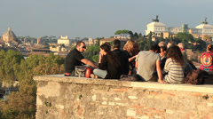 Social gathering in Rome Stock Footage