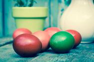 Stock Photo of Easter painted eggs