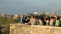 Stock Video Footage of Photo opportunity at Rome landmark