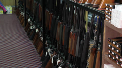 Shotguns in store Stock Footage