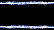 Stock Video Footage of Electricity Border Horizontal 2 symmetrical alpha