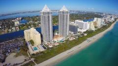 Miami Beach oceanfront condos Stock Footage