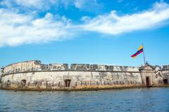 historic bocachica fort - stock photo