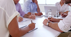 Close up of businessteam working Stock Footage
