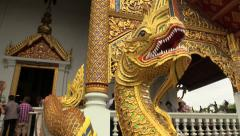 Wat Phra Singh, Monks. Chiang Mai, Thailand, HD 1080p Stock Footage