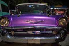 Retro car Shevrolet corvette - stock photo