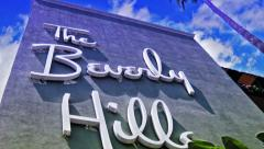 Beverly Hills Hotel (Timelapse) Stock Footage