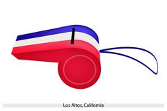 Stock Illustration of a beautiful whistle of los altos, california