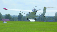 Light aircraft Stock Footage