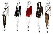 Stock Illustration of sketch. fashion girl. hand-drawn fashion model. vector illustration.