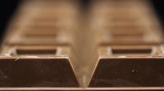 Food Tablet Chocolate Stock Footage
