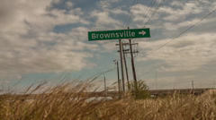Brownsville Texas Sign Time-Lapse Stock Footage