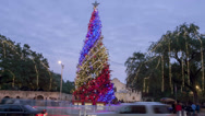 Stock Video Footage of Alamo Christmas Tree Timelapse