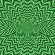 Crinkle Cut Green Pulse - stock illustration