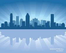 montreal, canada skyline - stock illustration